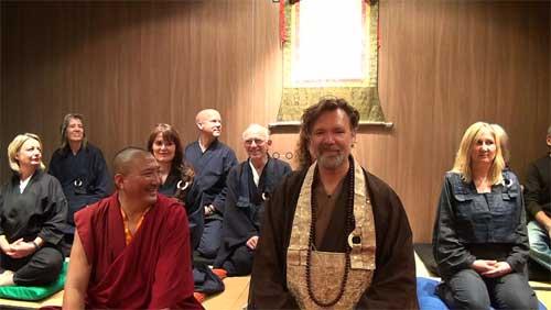 Weihung der f�nf Dhyani-Buddhas im Zen-Kloster Buchenberg