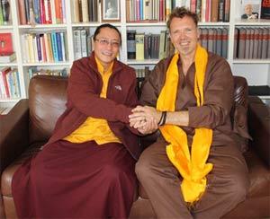 Zen-Meister Hinnerk Polenski und  Tulku Sangngag Tenzin Rinpoche